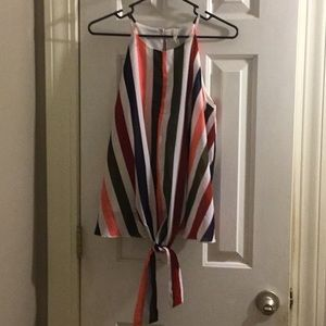 Sleeveless striped shirt